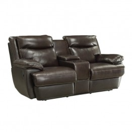 Coaster Macpherson Motion Loveseat in Brown