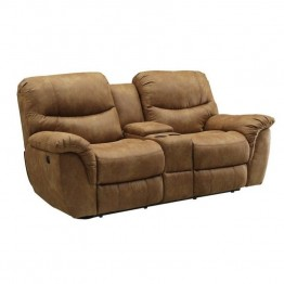 Coaster Hancox Motion Loveseat in Light Brown