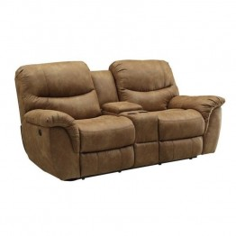 Coaster Hancox Power Loveseat in Light Brown