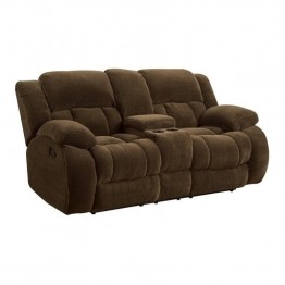 Coaster Weissman Motion Loveseat in Brown