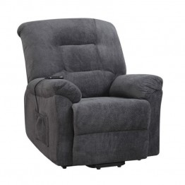 Coaster Power Lift Recliner in Charcoal