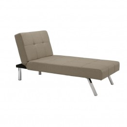 DHP Layton Linen Chaise Lounge in Tan