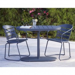 Cosco Outdoor Metro Retro 3 Piece Steel Nesting Patio Bistro Set Gray