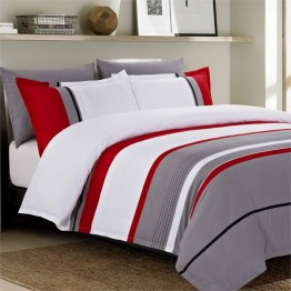 Versailles Gadsby 5 Piece King Duvet Cover Set in Grey