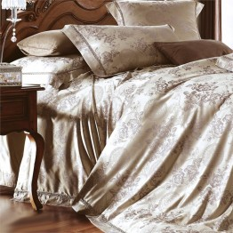 Versailles Victoria 3 Piece King Duvet Cover Set in Taupe