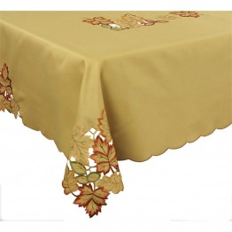 "Xia Home Fashions Bountiful Leaf 70"""" x 120"""" Tablecloth"