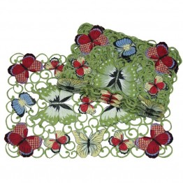 "Xia Home Fashions Butterflies 13"""" x 19"""" Placemat (Set of 4)"