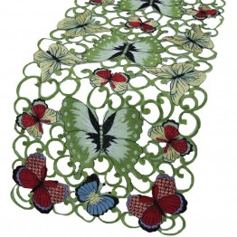 "Xia Home Fashions Butterflies 15"""" x 70"""" Table Runner"
