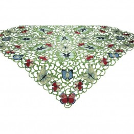 "Xia Home Fashions Butterflies 34"""" x 34"""" Table Topper"