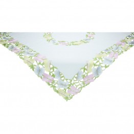 "Xia Home Fashions Butterfly Minuet 34"""" x 34"""" Table Topper"
