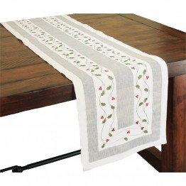"Xia Home Fashions Classic Holly 15"""" x 72"""" Table Runner"