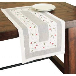 "Xia Home Fashions Classic Holly 16"""" x 36"""" Table Runner"