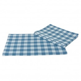 "Xia Home Fashions Gingham Check 13"""" x 19"""" Placemat in Blue (Set of 4)"