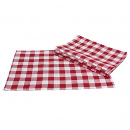 "Xia Home Fashions Gingham Check 13"""" x 19"""" Placemat in Red (Set of 4)"
