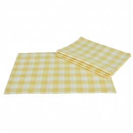Xia Home Fashions Gingham Check Placemat in Yellow (Set of 4)