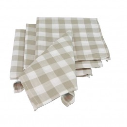 Xia Home Fashions Gingham Check Napkin in Natural (Set of 4)