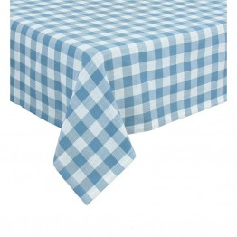 "Xia Home Fashions Gingham Check 60"""" x 60"""" Tablecloth in Blue"