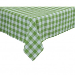 "Xia Home Fashions Gingham Check 60"""" x 60"""" Tablecloth in Green"