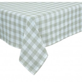 "Xia Home Fashions Gingham Check 60"""" x 60"""" Tablecloth in Natural"