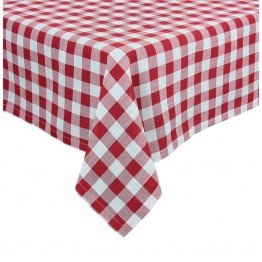 "Xia Home Fashions Gingham Check 60"""" x 60"""" Tablecloth in Red"