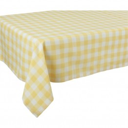 "Xia Home Fashions Gingham Check 60"""" x 60"""" Tablecloth in Yellow"