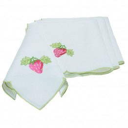 "Xia Home Fashions Strawberry Patch 19"""" x 19"""" Napkin (Set of 4)"