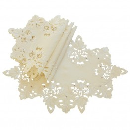 Xia Home Fashions Victorian Lace Placemat in Ivory (Set of 4)