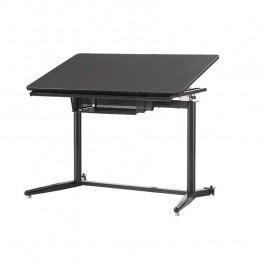 Coaster Height Adjustable Standing Drafting Desk in Black