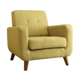 Coaster Mid Century Modern Accent Chair in Green