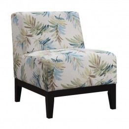 Coaster Upholstered Accent Chair in Blue and Green