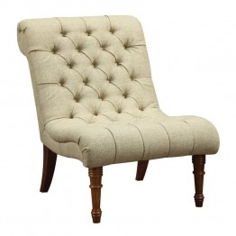 Coaster Tufted Accent Chair in Mossy Green