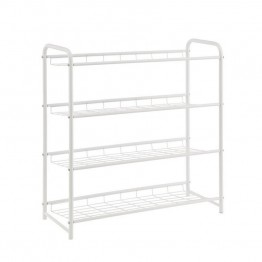 Coaster 4 Shelf Shoe Rack in White