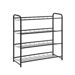 Coaster 4 Shelf Shoe Rack in Black