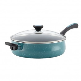 Paula Deen Riverbend Aluminum Nonstick Saute Pan in Gulf Blue Speckle