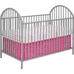 Ameriwood Home Prism Crib in Soft Gray