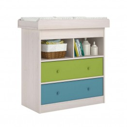 Ameriwood Home Applegate Changing Table with 2 Fabric Bins