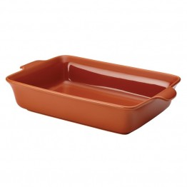 Anolon Vesta Stoneware Baking Dish in Persimmon Orange