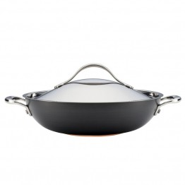 Anolon Nouvelle Copper Nonstick Wok in Dark Gray