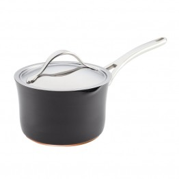 Anolon Nouvelle Copper Nonstick Sauce Pan in Dark Gray