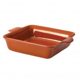 "Anolon Vesta Stoneware 9"""" Square Baking Dish in Persimmon Orange"