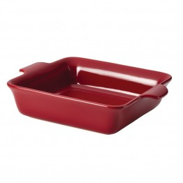 "Anolon Vesta Stoneware 9"""" Square Baking Dish in Paprika Red"