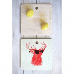 Deny Designs Nick Nelson Young Buck Square Cutting Board