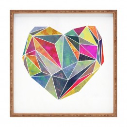 Deny Designs Mareike Boehmer Heart Graphic 5 X Square Tray