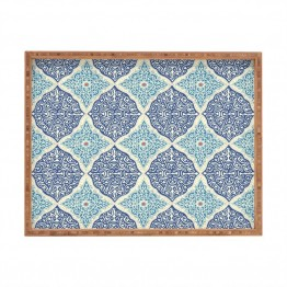 Deny Designs Belle13 Curly Rhombus Large Tray