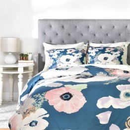 Deny Designs 3 Piece Une Femme In Blue Queen Duvet Set
