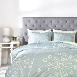 Deny Designs 3 Piece Rachael Taylor Quirky Motifs Queen Duvet Set