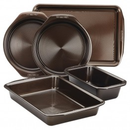 Circulon Symmetry Bakeware 5 Piece Nonstick Bakeware Set in Chocolate