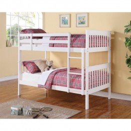 Coaster Twin over Twin Bunk Bed in White