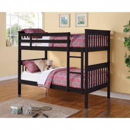Coaster Twin over Twin Bunk Bed in Black