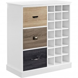 Altra Furniture Mercer Wine Cabinet in White